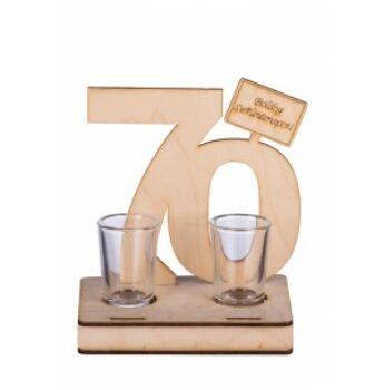 Pálinkás Pohár Szett Születésnapra - 70
