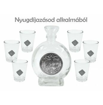 Pálinkás Készlet 6 db - Nyugdíjazásod alkalmából