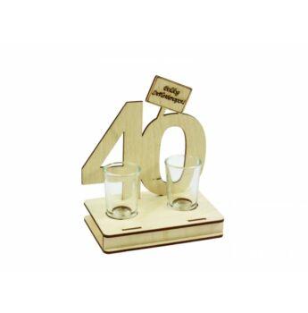 Pálinkás Pohár Szett Születésnapra - 40