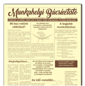 Munkahelyi Búcsúztató - Újság