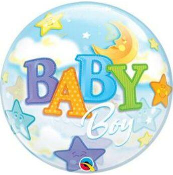 Buborék Lufi - Babaszületésre - Baby Fiús - 56cm