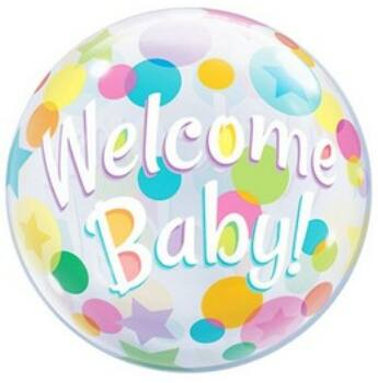 Buborék Lufi - Welcome Baby - 56cm