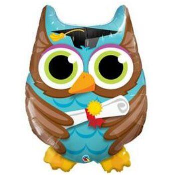 Ballagási Bagoly - Graduate Owl Fólia Lufi, 86 cm