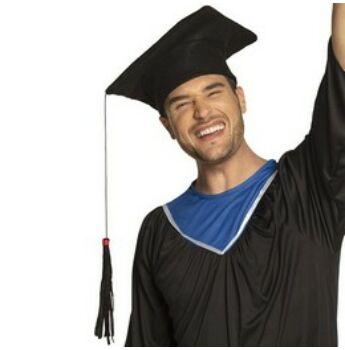 Ballagási Diplomaosztó Fekete Filc Kalap Hosszú Bojttal