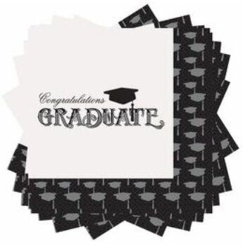 Ballagási Szalvéta - Congratulations Graduate Felirattal - 20 db-os