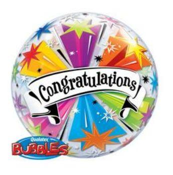 Buborék Lufi - Ballagás - Gratulálunk - 56cm