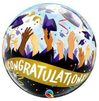 Buborék Lufi - Congratulations! - Gratulálunk - 56cm