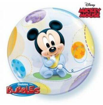 Baby Mickey Bubbles Léggömb Babaszületésre