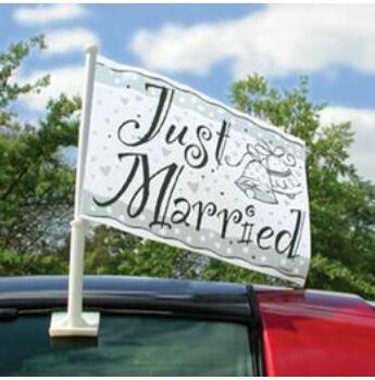 Esküvőre Autós Zászló
