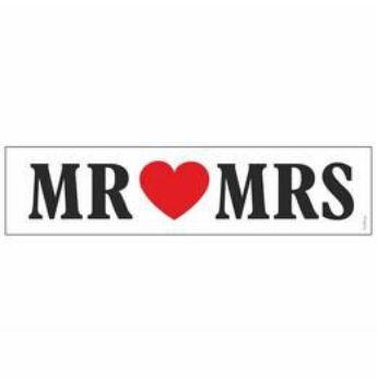 Rendszámtábla - Mr és Mrs Szíves Esküvői