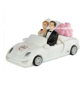 Esküvői Pár Cabrioban Tortadísz