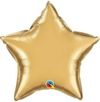 Fólia Lufi - Egyszínű Csillag - Arany (Chrome) - 51 cm