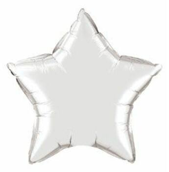 Fólia Lufi - Egyszínű Csillag - Ezüst - 51 cm