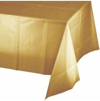 Parti Asztalterítő - Fényes Metál Arany Műanyag  - 137 cm x 274 cm