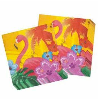 Szalvéta - Flamingó Hawaii Mintás