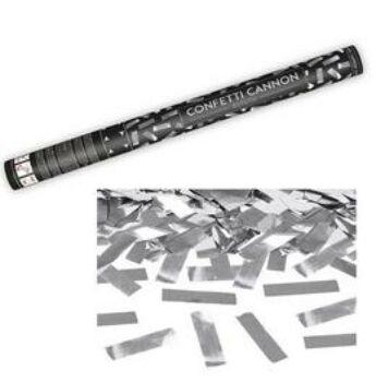 Konfetti Ágyú - Ezüst Téglalapokat Kilövő - 60 cm