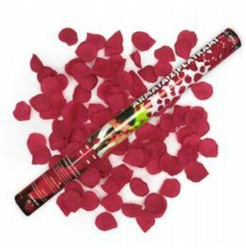 Konfetti Ágyú - Piros Rózsaszirmokat Kilövő - 60 cm
