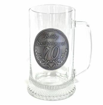 Óncímkés Korsó 0,5 l - Boldog Születésnapot 70