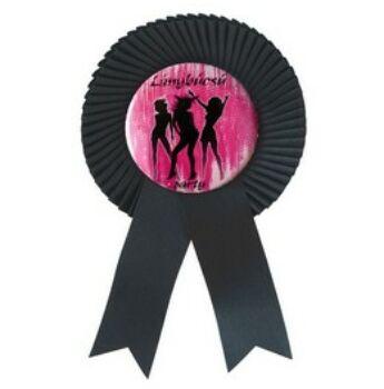Kitűző - Lánybúcsú Party - Fekete szalagos