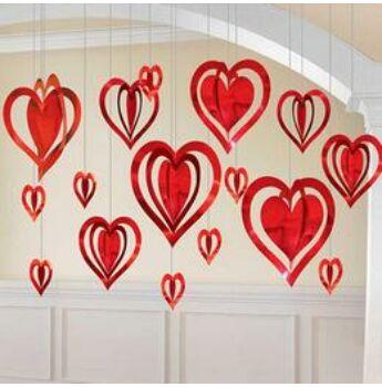 Szívek Dekorációs Szett - 3D