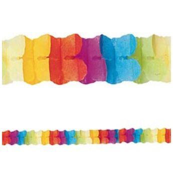 Papír Füzér - Vegyes Színű - Girland 3,65 m