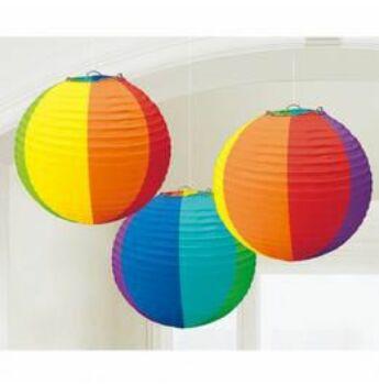 Lampon - színes - gömb - 3db 24cm