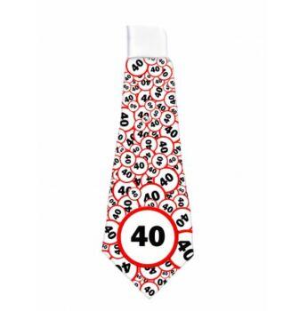 Nyakkendő Sebesség korlátozós 40. Szülinapra