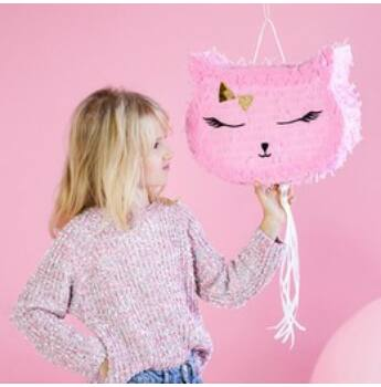 Pinata - Rózsaszín Cica Fej