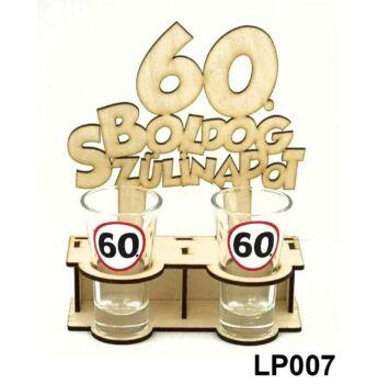 Pálinkás Pohár Szett - Boldog 60. Szülinapot 2db 5cl