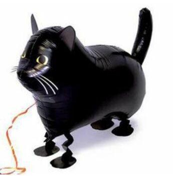 Sétáló Lufi - Fekete Cica