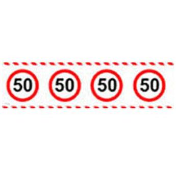 Számos Sebességkorlátozó Szülinapi Parti Szalag 50.- 15 m