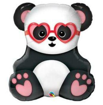 Fólia Lufi - Super Shape - Panda Maci Szerelmes - 81 cm