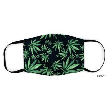 Vicces Szájmaszk - Cannabis Mintás
