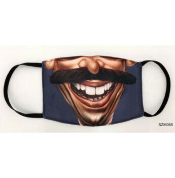 vicces maszkok - bajszos vicces szájmaszk