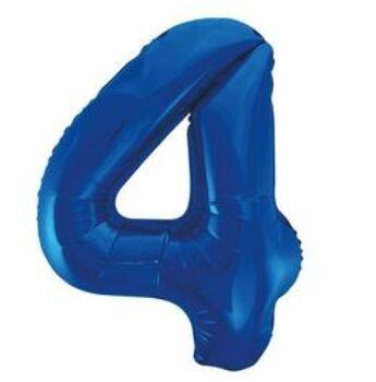 Fólia Lufi - Szám Alakú Kék - 4 - 86cm