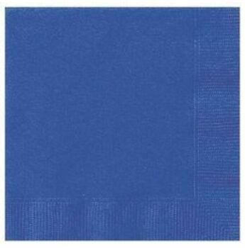 Egyszínű Szalvéta - Királykék - 33 cm x 33 cm, 20 db-os