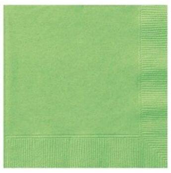 Egyszínű Szalvéta - Lime Zöld  - 33 cm x 33 cm, 20 db-os