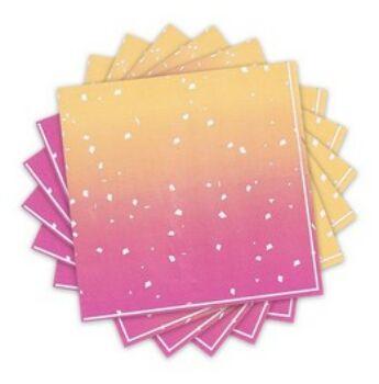 Szalvéta - Rose Gold Ombre Színű - 33 cm x 33 cm
