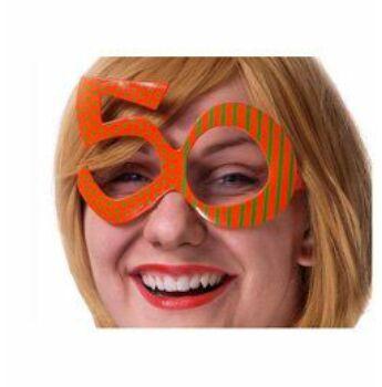 Parti Szemüveg - Narancssárga 50-es