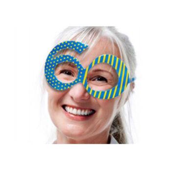 Parti Szemüveg - Kék 60-as Szülinapi