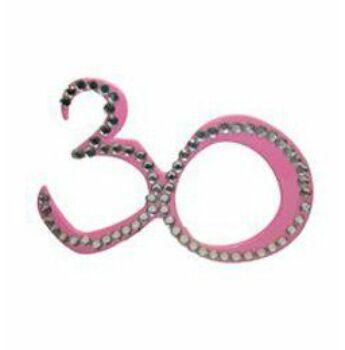 Parti szemüveg - Rózsaszín 30-as Számos Szülinapi