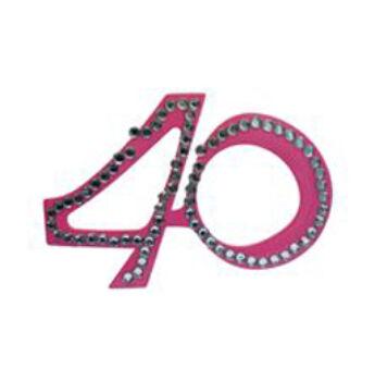 Rózsaszín 40-Es Szülinapi Parti Szemüveg