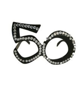 Parti szemüveg - Fekete 50-es Számos Szülinapi