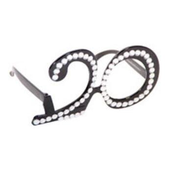 Parti szemüveg - Fekete 20-As Számos Szülinapi
