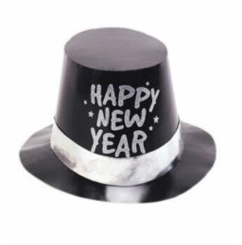 Kalap Szilveszterre - Happy New Year - Fekete