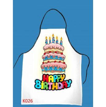 Kötény - Happy Birthday