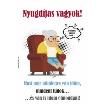 Kötény - Nyugdíjas vagyok! - Hölgyeknek
