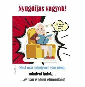 Kötény - Nyugdíjas vagyok! - Uraknak