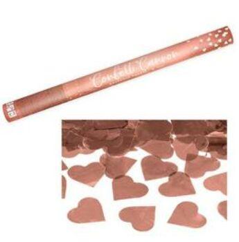 Konfetti Ágyú - Rosegold Sziveket Kilövő - 60cm