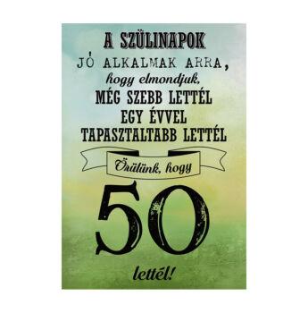 Születésnapi Üveg Címke - 50. Születésnapra Legjobb Évjárat 2 Db-Os